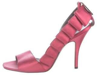 Salvatore Ferragamo Satin Embellished Sandals