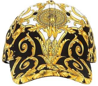 Versace Baroque Print Cotton Baseball Cap