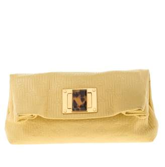 Louis Vuitton Altair Yellow Leather Clutch bags