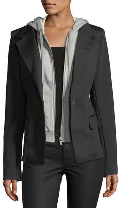 Raison D'etre Hooded-Bib Blazer
