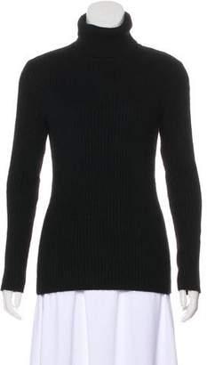 Valentino Rib Knit Turtleneck Top