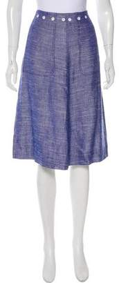 Courreges A-Line Knee-Length Skirt
