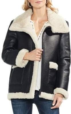Vince Camuto Estate Jewel Faux Fur-Lined Jacket