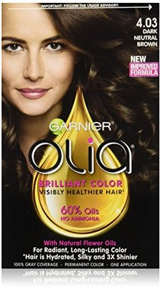 Garnier Hair Color Olia Oil Powered Permanent Color, 4.03 Dark Neutral Brown (Packaging May Vary) $9.99 thestylecure.com