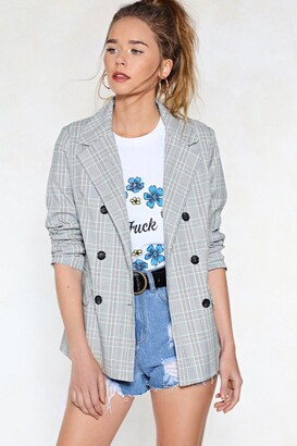 Nasty Gal Get in Check Blazer