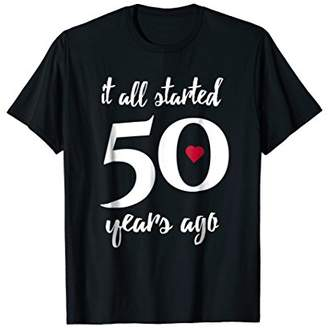 50th Wedding Anniversary T-Shirt For Married Couples 1968
