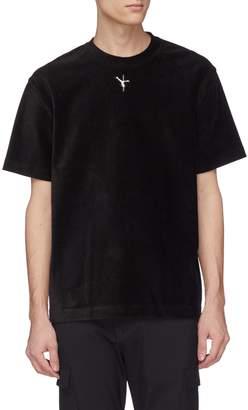 Alexander Wang Filp girl embroidered velour T-shirt