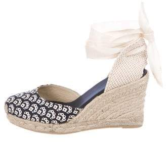Barneys New York Barney's New York Printed Espadrille Wedges