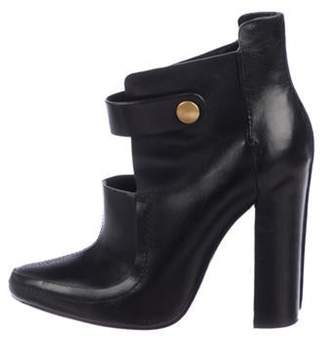 Alexander Wang Leather Ankle Boots Black Leather Ankle Boots