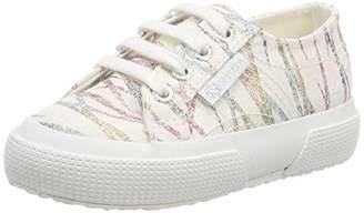 Superga Girls' 2750-glitterybamboopolesj Gymnastics Shoes, (White/Multicolor 938)