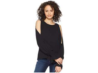 Vince Camuto Flare Cuff Cold Shoulder Boat Neck Blouse Women's Blouse