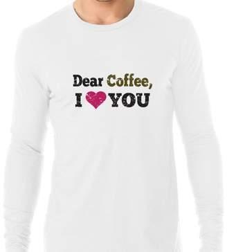 Hollywood Thread Dear Coffee I Love You Trendy Graphic Design Men's Long Sleeve T-Shirt