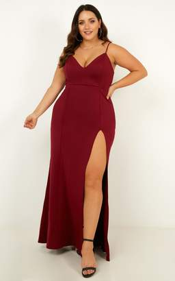 Showpo Dare To Dream Maxi Dress in Wine - 8 (S) Dresses
