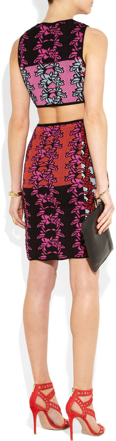 M Missoni Cutout knitted cotton-blend dress