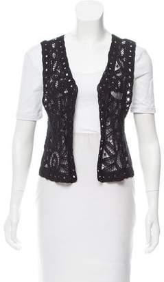 Calypso Crochet Open Vest