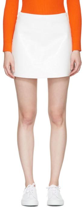 CourregesCourrèges Off-White Vinyl Iconic Miniskirt