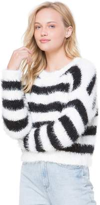 Juicy Couture Striped Slouch Pullover Sweater