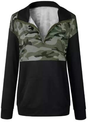 Goodnight Macaroon 'Lacey' Camouflage Pattern Half Zip Sweater (3 Colors)