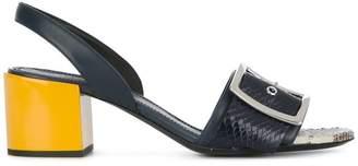 Jil Sander snakeskin effect buckled sandals