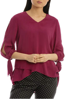 Regatta 3/4 Sleeve Layered Asym Hem Top