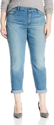NYDJ Women's Plus Size Jessica Relaxed Boyfriend Jeans