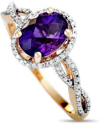 Generic Gemstones 14K Rose Gold 0.10 Ct. Tw. Diamond & Peridot Ring