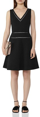 REISS Nelly Fit-and-Flare Dress $350 thestylecure.com
