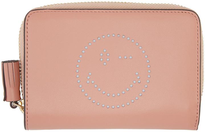 Anya HindmarchAnya Hindmarch Pink Compact Wink Wallet