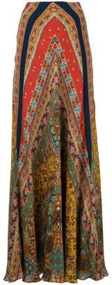 Etro micro pattern full skirt