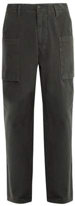 Acne Studios Anselm Cotton Canvas Trousers - Mens - Black