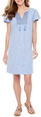 ST. JOHN'S BAY Flutter Sleeve Dress - Tall