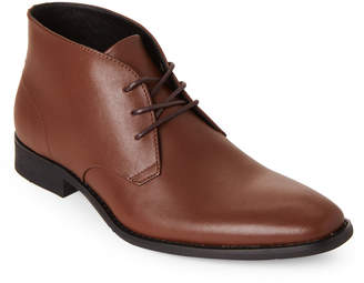 Calvin Klein Tan Rolando Leather Chukka Boots