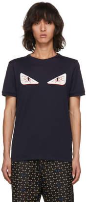 Fendi Navy Tired Eye Bag Bugs T-Shirt