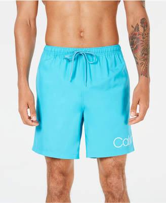 """Calvin Klein Men Logo 7"""" Swim Trunks"""