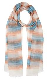 Bigi BIGI MEN'S STRIPED LINEN SCARF - TURQUOISE