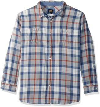 Lee Men's Long Sleeve Flannel Button Down Shirt