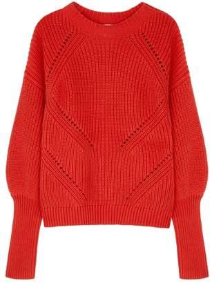 Joie Landyn Pointelle-knit Cotton