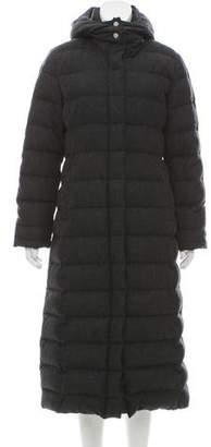 Black Fleece Quilted Wool Coat