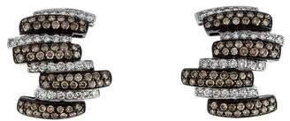 Diamond Cluster Ear Clips