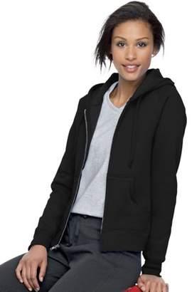 Hanes EcoSmart Women`s Cotton-Rich Full-Zip Hoodie Sweatshirt, W280, S, Black