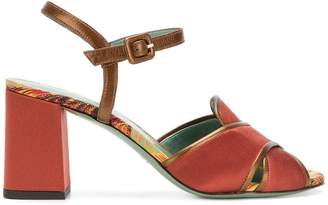 Paola D'arcano crossover strap sandals