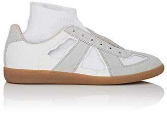 "Maison Margiela Men's ""Replica"" Cutout Leather & Suede Sneakers"