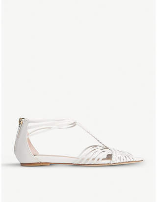 LK Bennett x Jenny Packham Deedee cutout braided leather sandals