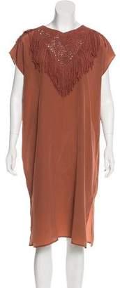 Ulla Johnson Silk Fringe-Trimmed Dress w/ Tags