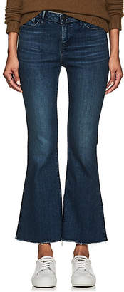 3x1 WOMEN'S MIDWAY EXTREME CROP BELL JEANS - MD. BLUE SIZE 27