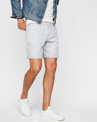 Express Rolled Hem Floral Lined Drawstring Shorts