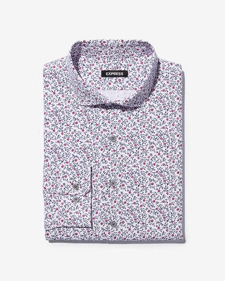 Express Extra Slim Floral Stripe Dress Shirt