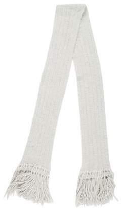 Nina Ricci Cable Knit Fringe Scarf