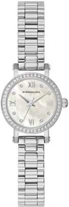BCBGMAXAZRIA Women's Silver Case Light Mother Of Pearl Dial Silver Bracelet Watch