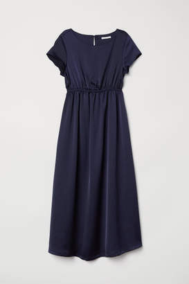 H&M MAMA Short-sleeved Dress - Blue